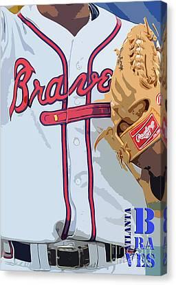 Atlanta Braves Original Typography Baseball Team Canvas Print by Pablo Franchi