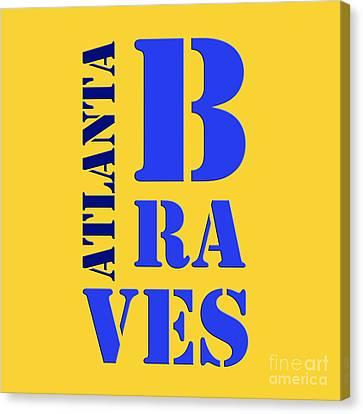 Atlanta Braves Sign Canvas Print