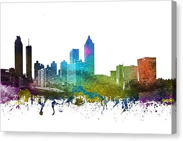 Atlanta Cityscape 01 Canvas Print by Aged Pixel