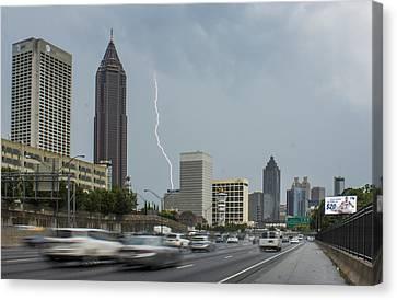 Atlanta Daytime Lightning Canvas Print