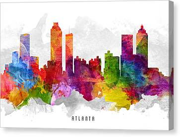 Atlanta Georgia Cityscape 13 Canvas Print by Aged Pixel
