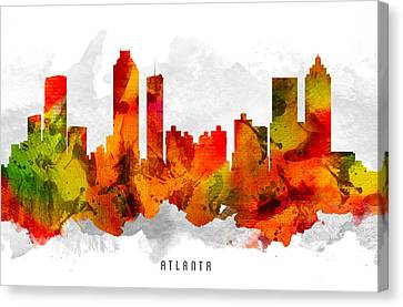 Atlanta Georgia Cityscape 15 Canvas Print by Aged Pixel