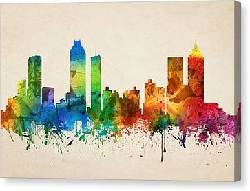 Atlanta Georgia Skyline 05 Canvas Print by Aged Pixel