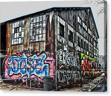Atlanta Convention Canvas Print - Atlanta Graffiti Warehouse by Corky Willis Atlanta Photography