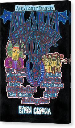 Atlanta International Pop Festival Canvas Print by David Sutter
