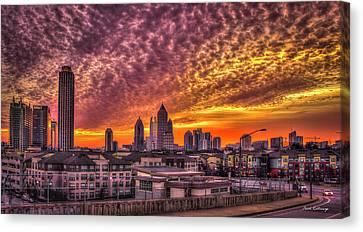 Scad Canvas Print - Atlanta Midtown Atlantic Station Sunrise by Reid Callaway
