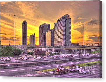 Atlanta Midtown Atlantic Station Sunset Canvas Print