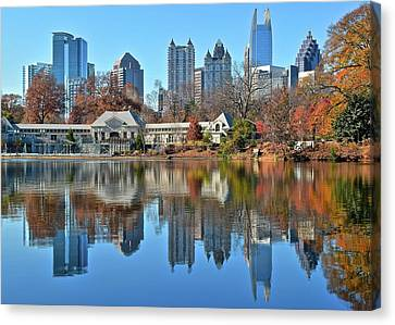 Atlanta Reflected Canvas Print by Frozen in Time Fine Art Photography