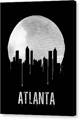 Atlanta Skyline Black Canvas Print