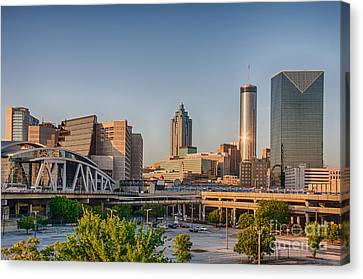 Atlanta Skyline Philips Arena Canvas Print