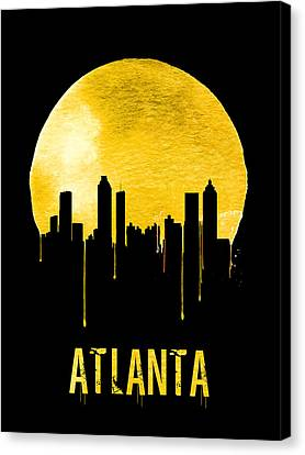 Atlanta Skyline Yellow Canvas Print