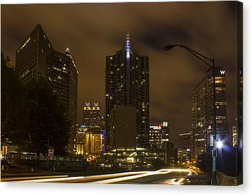 Atlanta Spring Street Lights Canvas Print