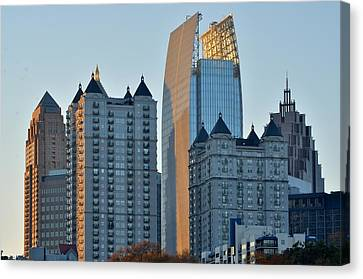 Atlanta Towers Canvas Print by Frozen in Time Fine Art Photography