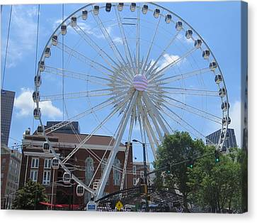 Canvas Print featuring the photograph Atlanta Wheel by Aaron Martens