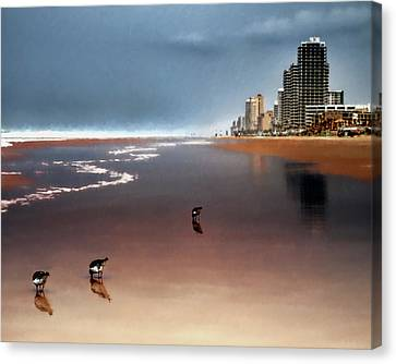 Canvas Print featuring the photograph Atlantic Beach by Jim Hill