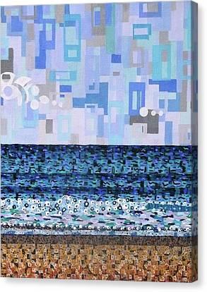 Atlantic Beach Canvas Print by Micah Mullen
