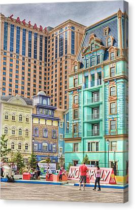 Canvas Print featuring the photograph Atlantic City Boardwalk by Matthew Bamberg