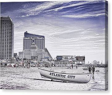Canvas Print featuring the photograph Atlantic City by Linda Constant