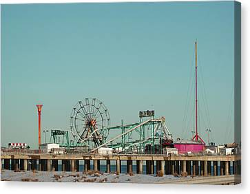 Atlantic City Steel Pier Amusements Canvas Print