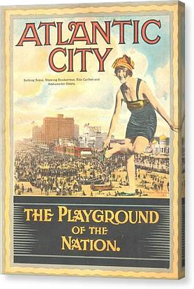 Atlantic City The Playground Of The Nation Canvas Print by NewJerseyAlmanac