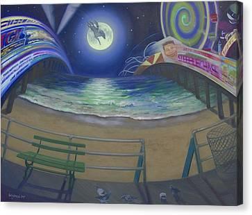 Atlantic City Time Warp Canvas Print