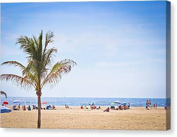 Atlantic Coast Beachgoers Canvas Print by Colleen Kammerer