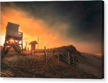 Nauset Beach Canvas Print - Atlantic Ocean Coast At Sunset - Nauset Beach by Dapixara Art