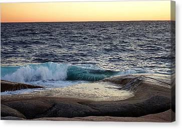 Atlantic Ocean, Nova Scotia Canvas Print by Heather Vopni
