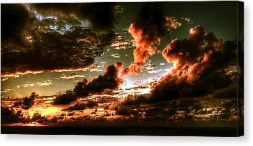 Atlantic Ocean Sunset-1 Canvas Print