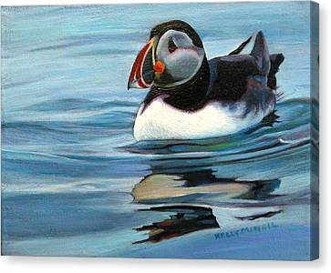Atlantic Puffin 1 Canvas Print by Kelly McNeil