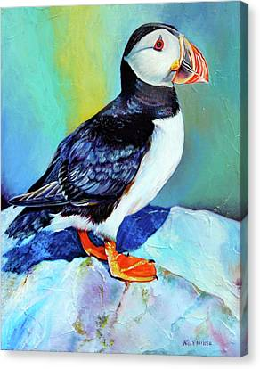 Atlantic Puffin From Newfoundland Canvas Print