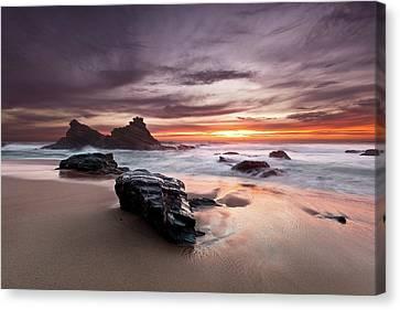 Canvas Print featuring the photograph Atlantic Seashore by Jorge Maia