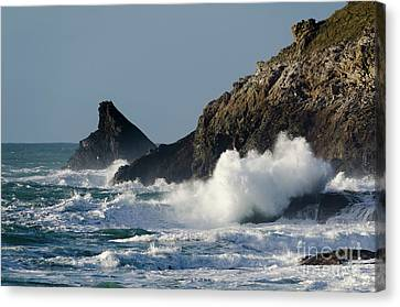 Atlantic Splash Canvas Print by Steev Stamford