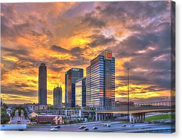 Scad Canvas Print - Atlantic Station Reflective Beauty Atlanta by Reid Callaway