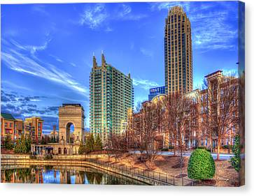Millennium Gate Atlantic Station Cityscape Art Canvas Print