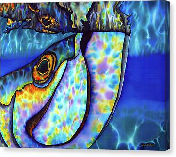 Atlantic Tarpon Fish Canvas Print by Daniel Jean-Baptiste