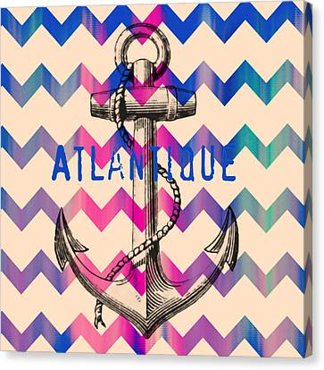 Atlantique Long Island Anchor Canvas Print by Brandi Fitzgerald