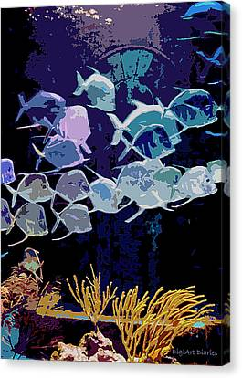 Atlantis Aquarium Canvas Print by DigiArt Diaries by Vicky B Fuller