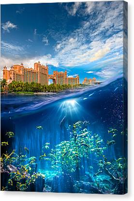 Atlantis Bahamas Canvas Print by Sunman Studios
