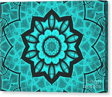 Atlantis Stained Glass Canvas Print by Roxy Riou