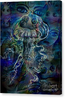 Atlantis. Went Under Water Canvas Print by Sofia Metal Queen