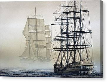 Tall Ship Canvas Print - Atlas And Inverclyde by James Williamson