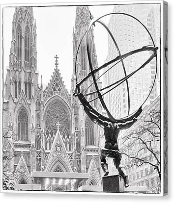 Atlas And The Cathedral Canvas Print by Vicki Jauron