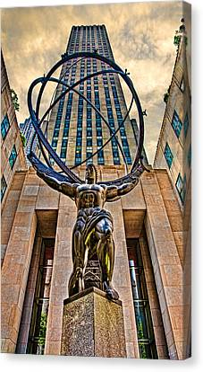 Atlas At The Rock Canvas Print