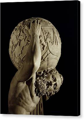 Sculpted Canvas Print - Atlas by Roman School