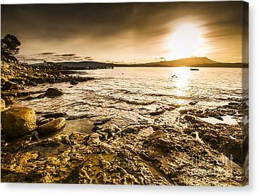 Atmospheric Dusk Seascape Canvas Print