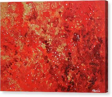 Atmospheric Red 201749 Canvas Print by Alyse Radenovic
