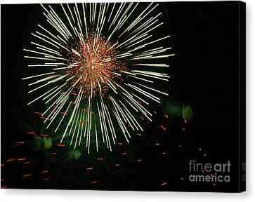 Atom Burst Canvas Print by Norman  Andrus
