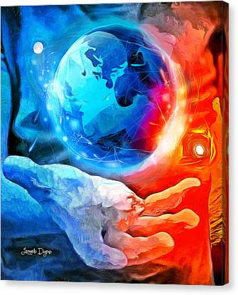 Atomic Canvas Print - Atomic Earth - Da by Leonardo Digenio