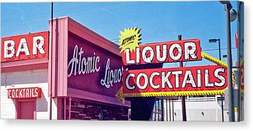 Canvas Print featuring the photograph Atomic Liquors by Matthew Bamberg